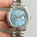 Replica Rolex Day-Date 40 228239 40MM KW Stainless Steel Blue Dial Swiss 3255