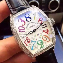 Replica Franck Muller Crazy Color Dreams FM 8880 CH COL DRM Stainless Steel White Dial Swiss 2824-2