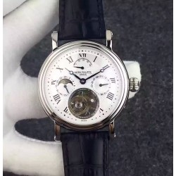 Replica Patek Philippe Grand Complication Tourbillon Stainless Steel White Dial Swiss Tourbillon