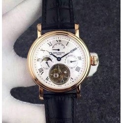 Replica Patek Philippe Grand Complication Tourbillon Rose Gold White Dial Swiss Tourbillon