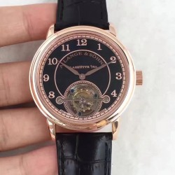 Replica A. Lange & Sohne 1815 Tourbillon 730.032 LH Rose Gold Black Dial Swiss L102.1