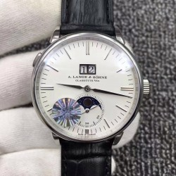 Replica A. Lange & Sohne Saxonia Moon Phase 384.026 GF Stainless Steel White Dial Swiss L086.5