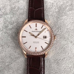 Replica Jaeger-LeCoultre Geophysic True Second 8012520 N Rose Gold & Diamonds White Dial Swiss Calibre 770