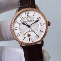 Replica Jaeger-LeCoultre Ladies Rendez-Vous Night & Day Large 3612420 38MM N Rose Gold & Diamonds White Dial Swiss 898D/1