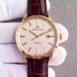 Replica Jaeger-LeCoultre Geophysic True Second 8012520 N Rose Gold Cream Dial Swiss Calibre 770