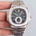 Replica Patek Philippe Nautilus Chronograph 5980 JF Stainless Steel Blue Dial Swiss CH28-520C