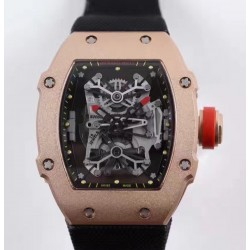 Replica Richard Mille RM27-01 Rafael Nadal Rose Gold Black Dial M9015