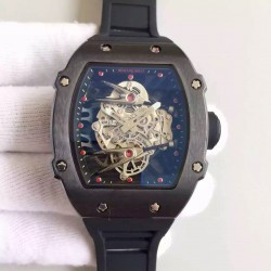Replica Richard Mille RM27-02 PVD Black & Skeleton Dial M9015