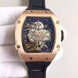 Replica Richard Mille RM27-02 Rose Gold Black & Skeleton Dial M9015