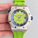 Replica Audemars Piguet Royal Oak Offshore Diver 15710ST.OO.A038CA.01 JF Stainless Steel Green Dial Swiss 3120