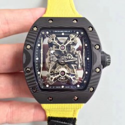 Replica Richard Mille RM50-27-01 NTPT KV Black Forged Carbon Black & Skeleton Dial M9015