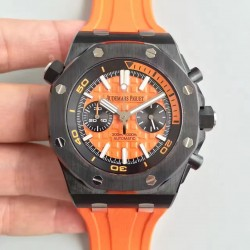 Replica Audemars Piguet Royal Oak Offshore Diver Chronograph 26703 JH Ceramic Orange Dial Swiss 3124