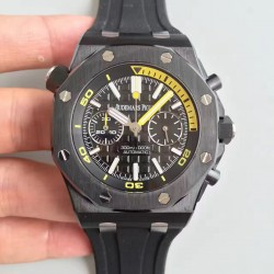Replica Audemars Piguet Royal Oak Offshore Diver Chronograph 26703 JH Black Ceramic Black Dial Swiss 3124