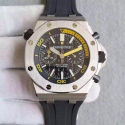 Replica Audemars Piguet Royal Oak Offshore Diver Chronograph 26703ST.OO JF Stainless Steel Black Dial Swiss 3124