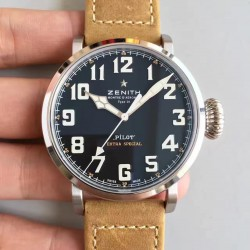 Replica Zenith Pilot Type 20 Extra Special 03.2430.3000.21.C738 XF Stainless Steel Black Dial Swiss 2824-2