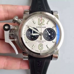 Replica Graham Chronofighter Oversize 20BR0V.B32A.K10N N Stainless Steel White Dial Swiss 7750