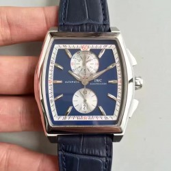 Replica IWC Da Vinci Chronograph IW376403 ZF Stainless Steel Blue Dial Swiss 89361