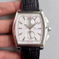 Replica IWC Da Vinci Chronograph IW376403 ZF Stainless Steel White Dial Swiss 89361