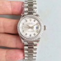 Replica Rolex Lady Datejust 28 279136RBR 28MM N Stainless Steel & Diamonds Silver Dial Swiss 2236
