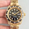 Replica Rolex Submariner Date 116618LN BP Yellow Gold & Diamonds Black Dial Swiss 2836-2